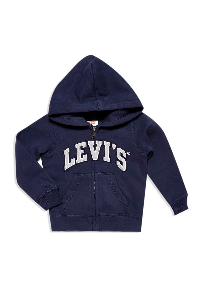 ece0e29c0a939 Poleron Zip Up Hoodie Dress Blue (4-7 años) - Levis Chile
